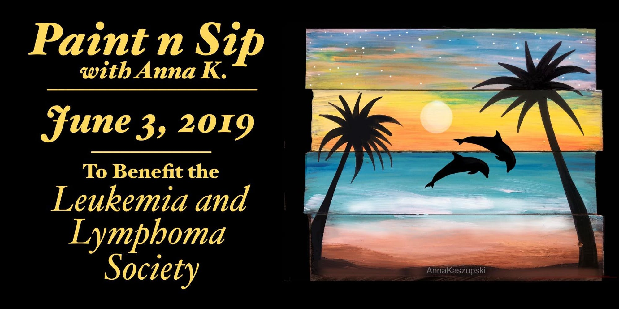 Paint n Sip Party for the Leukemia & Lymphoma Society